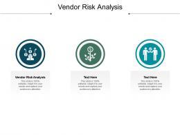Vendor Risk Analysis Ppt Powerpoint Presentation Slides Template Cpb