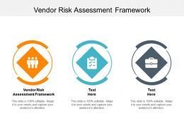 Vendor Risk Assessment Framework Ppt Powerpoint Presentation Portfolio Inspiration Cpb
