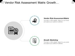 Vendor Risk Assessment Matrix Growth Marketing Supply Chain Kpi Cpb