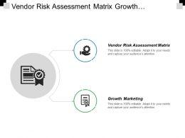 Vendor Risk Assessment Matrix Growth Marketing Supply Chain Kpi Cpb