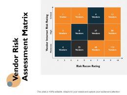 Vendor Risk Assessment Matrix Ppt Powerpoint Presentation Icon Structure