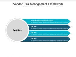 Vendor Risk Management Framework Ppt Powerpoint Presentation Inspiration Visuals Cpb