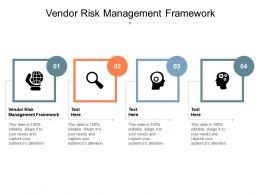 Vendor Risk Management Framework Ppt Powerpoint Presentation Model Influencers Cpb