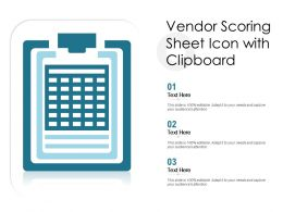 Vendor Scoring Sheet Icon With Clipboard