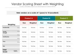 Vendor Scoring Sheet With Weighting