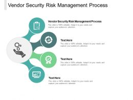 Vendor Security Risk Management Process Ppt Powerpoint Presentation File Cpb