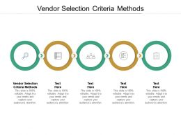 Vendor Selection Criteria Methods Ppt Powerpoint Presentation Inspiration Diagrams Cpb