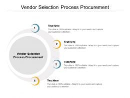 Vendor Selection Process Procurement Ppt Powerpoint Presentation Ideas Graphics Example Cpb