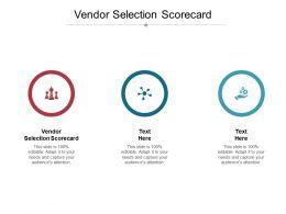 Vendor Selection Scorecard Ppt Powerpoint Presentation Outline Visual Aids Cpb