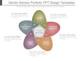 Vendor Service Portfolio Ppt Design Templates