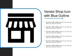 Vendor Shop Icon With Blue Outline