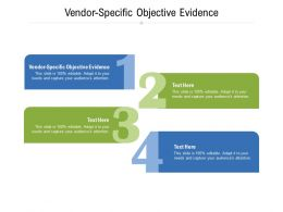 Vendor Specific Objective Evidence Ppt Powerpoint Presentation Show Templates Cpb