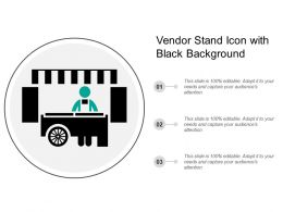 Vendor Stand Icon With Black Background