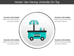 Vendor Van Having Umbrella On Top
