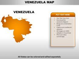 Venezuela Country Powerpoint Maps