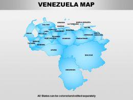 Venezuela Powerpoint Maps