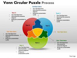 Venn Circular Puzzle Process templates 2