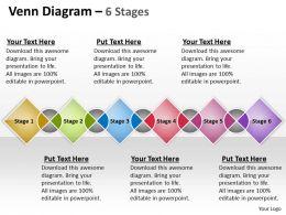 Venn colorful Diagram 6 Stages 7