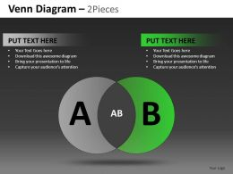 Venn Diagram 2 And 3 Pieces Powerpoint Presentation Slides DB