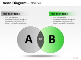 Venn Diagram 2 And 3 Powerpoint Presentation Slides