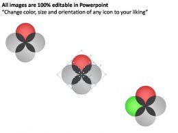 Venn Diagram 4 Pieces Powerpoint Presentation Slides