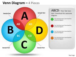 Venn Diagram 4 Pieces ppt 10