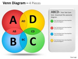 Venn Diagram 4 Pieces ppt 11