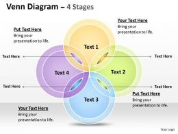 Venn Diagram 4 Stages Templates 9
