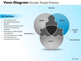 Venn Diagram Circular Puzzle Process Powerpoint Slides And Ppt Templates DB