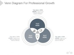 Venn Diagram For Professional Growth Presentation Design