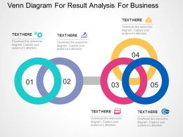 Venn Diagram For Result Analysis For Business Flat Powerpoint Design
