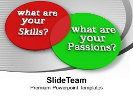 Venn Diagram Of Skills And Passions PowerPoint Templates PPT Backgrounds For Slides 0113