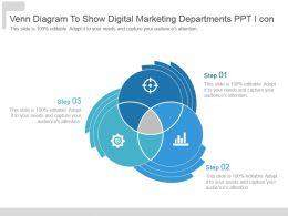 Venn Diagram To Show Digital Marketing Departments Ppt I Con