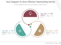 Venn Diagram To Show Effective Teambuilding Activity Powerpoint Slide Themes