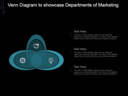 Venn Diagram To Showcase Departments Of Marketing Ppt Samples