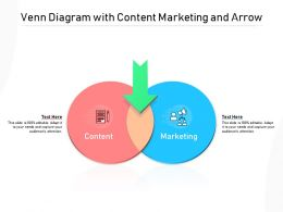 Venn Diagram With Content Marketing And Arrow