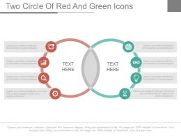 Venn Diagram With Icons For Business Powerpoint Slides