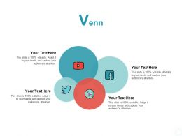 Venn Social Media Ppt Powerpoint Presentation Show Information