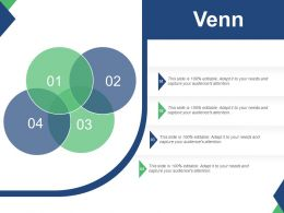Venn With Four Intersect Circle Ppt Summary Design Inspiration
