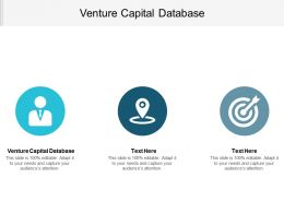 Venture Capital Database Ppt Powerpoint Presentation Gallery Slides Cpb