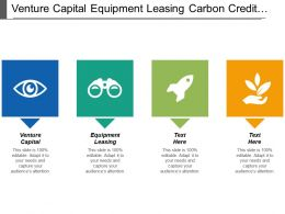 Venture Capital Equipment Leasing Carbon Credit Training Technical Assistance