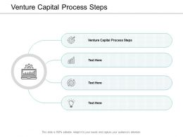 Venture Capital Process Steps Ppt Powerpoint Presentation Icon Information Cpb
