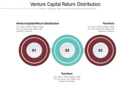 Venture Capital Return Distribution Ppt Powerpoint Presentation Slides Icon Cpb