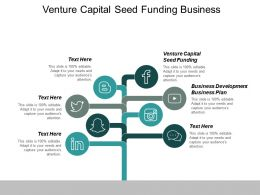 Venture Capital Seed Funding Business Development Business Plan Cpb
