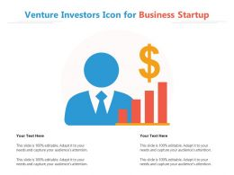 Venture Investors Icon For Business Startup
