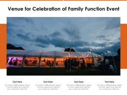 Venue For Celebration Of Family Function Event