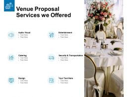 Venue Proposal Services We Offered Ppt Powerpoint Layouts
