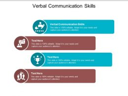 Verbal Communication Skills Ppt Powerpoint Presentation Rules Cpb