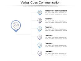 Verbal Cues Communication Ppt Powerpoint Presentation Layouts Deck Cpb