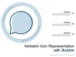 Verbatim Icon Representation With Bubble